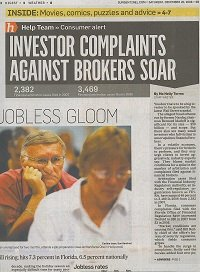 Investor Complaints Against Brokers Soar
