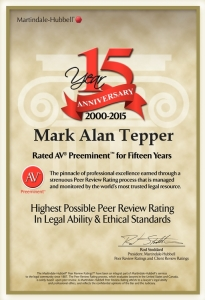 Attorney Mark Tepper highest rating of lawyers